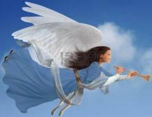 9519825-angel-with-trumpet-on-isolated-on-white-background